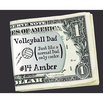 Volleyball Dad Personalized Money Clip | Gift for Dad