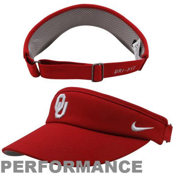 Nike Oklahoma Sooners Sideline Dri-FIT Adjustable Performance Visor - Crimson