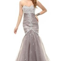 Sunvary Appliques Sheath Mother of the Bride Dress Cocktail Prom Gowns