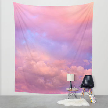 See the Dawn (Dawn Clouds Abstract) Wall Tapestry by Soaring Anchor Designs