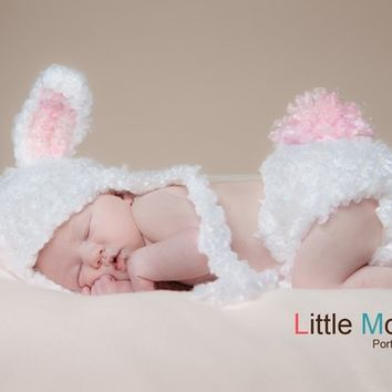 INSTANT DOWNLOAD Crochet Pattern Floppy Fuzzy Bunny Hat (6 Sizes Included Newborn to Adult) Permission to sell all finished items