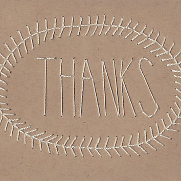 THANK YOU CARD - Hand Stitched Card with Envelope