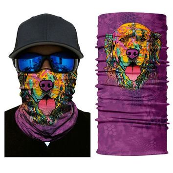 Outdoor Sports Face Shield Multi Colors Tube Scarf Bandana Head Mask Motorcycle Face Mask Neck Gaiter Snood Headwear Beanie