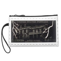 Haunted House Barton Stamp by j3ll3y Wristlet Clutches