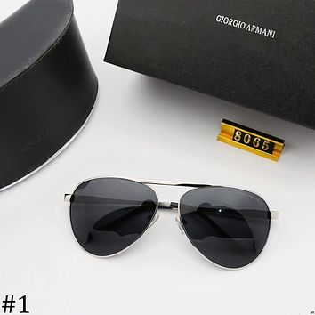 GIORGIO ARMANI 2018 new polarized sunglasses colorful polygonal sunglasses #1