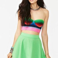 Silk Circle Skirt - Neon Green in Collections Hot Stuff at Nasty Gal