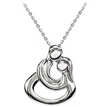 Sterling Silver Inspirational Blessings Couples Embrace Necklace