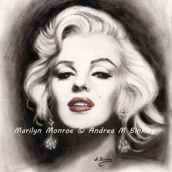 Marilyn Monroe Fine Art Giclee Print on Canvas 6