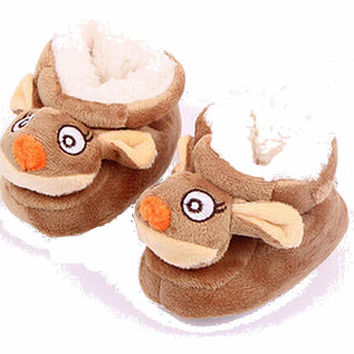Rudolph the Red Nosed Reindeer Girl or Boy Baby Booties w/ Anti-Skid Bottom