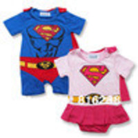 Hot new superman baby boy girls rompers baby summer fashion jumpsuit baby cotton rompers children's clothing short sleeve - Default