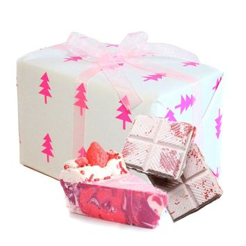 Stocking Stuffer Pink Christmas Gift Box