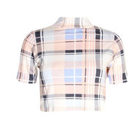 Lucy Pastel Check Crop Top