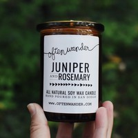 Juniper and Rosemary Apothec Candle