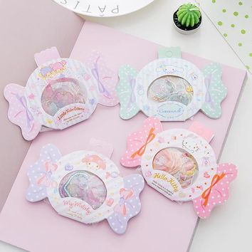 DIY Colorful Cute Candy Twin Star kawaii Stickers Diary Planner Journal Note Diary Paper Scrapbooking Albums PhotoTag