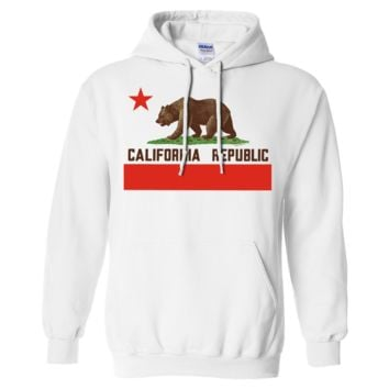 Don Pimentel California Republic Bear Flag Brown Text Sweatshirt Hoodie