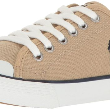 Polo Ralph Lauren Kids Kids' Camden Khaki Canvas Withnavy PP Sneaker Little Kid (4-8 Y