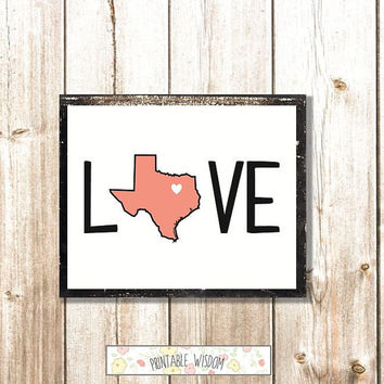 Your State Print, Printable art customized typography poster wall art decor, digital - personalized wedding gift housewarming