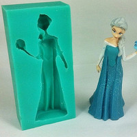 Frozen Beautiful Girl 3D Liquid Silicone Mold- ELSA