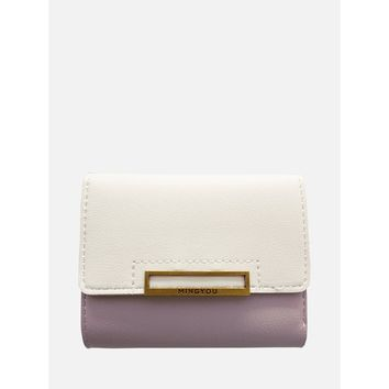 Two Tone Flap Purse Multicolor