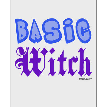 "Basic Witch Color Blue Aluminum 8 x 12"" Sign"