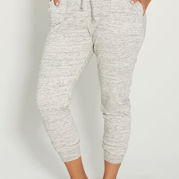 plus size spacedye jogger sweatpant with pockets
