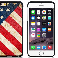 "American Flag Pattern TPU Rubber Shell Cover Case for 5.5"" iPhone 6 Plus"