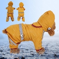 HOT Dog Raincoat Waterproof Outdoor Travel Pet Dog Coat Jacket Puppy Dog Clothes For Small/Big Dog Green XS-XXL Yellow Red