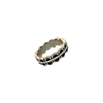Elements Fire Sterling Silver Bronze Ring