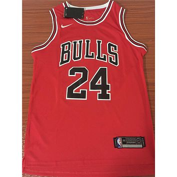Chicago Bulls #24 Lauri Markkanen Red Basketball Jersey | Best Deal Online