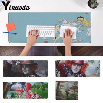 Yinuoda Hot Sales Alice in Wonderland Bonkers Unique Desktop Pad Game Mousepad Mouse Keyboards Mat Mousepad for boyfriend Gift