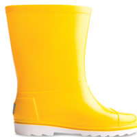 YELLOW PVC YOUTH RAIN BOOTS