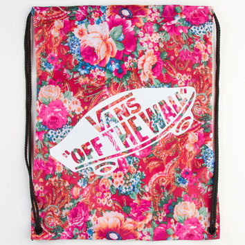 Vans Floral Print Benched Cinch Sack Multi One Size For Women 22945295701