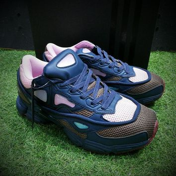 PEAPON Raf Simons x Adidas Consortium Ozweego 2 Night Marine 2018 Women Men Casual Trending Running Sneakers