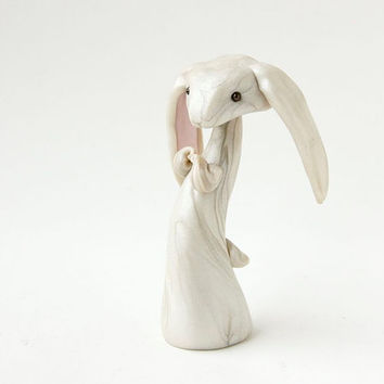 White Rabbit Lop Bunny by Bonjour Poupette