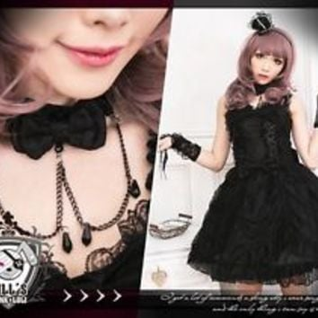 GOTH lolita royal aristocrat imperial court princess evening corset dress FA267