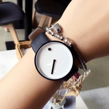 2017 cool black & white Minimalist style wristwatch bgg creative design Dot and Line simple stylish quartz fashion watch gift
