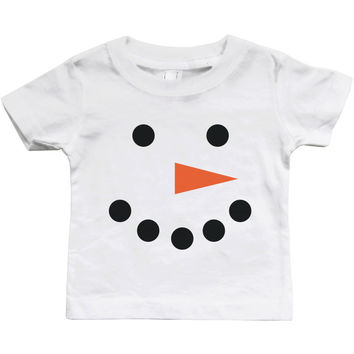 Graphic Snap-on Style Baby Tee, Infant Tee - Snowman
