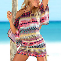 Tribal Printing Loose Dress