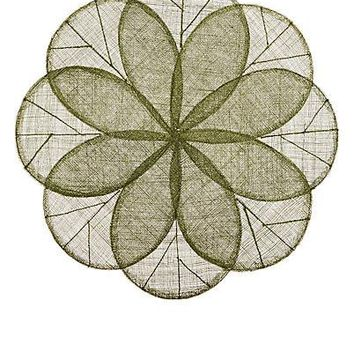 Sinamay Flower Placemat   Grass