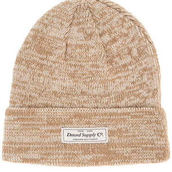 The Slate Beanie in Heather Tan