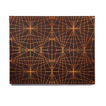 "Pia Schneider ""COPPER GOLD BLACK BEAN PATTERN"" Gold Brown Pattern Geometric Vector Digital Birchwood Wall Art"