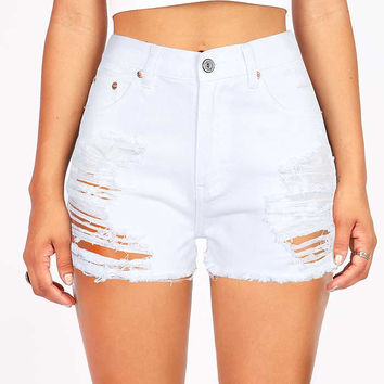 Devoid High Waist Denim Shorts