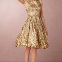 Rosa  Wedding Guest  Wedding Guest Dress by Anthropologie x BHLDN in Blush/gold Size: