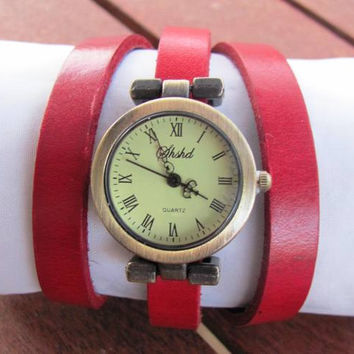 Vintage Style Women's Leather Watch  FREE SHIPPING
