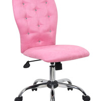 Boss Tiffany Microfiber Chair - Pink B220-PK