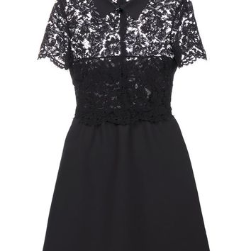 Lace Panelled Dress - VALENTINO
