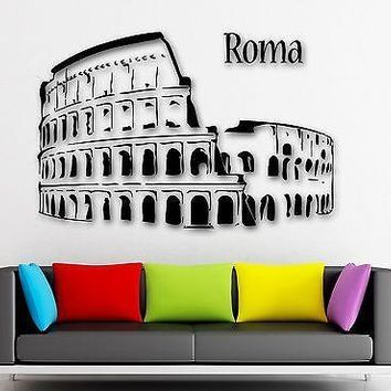 Wall Stickers Vinyl Decal Rome Italy Traveling Tourism Europe Unique Gift (ig966)