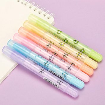 Cute Kawaii Star Rotating Pen Pencil Erasers Candy Color School Rubbers For Kids Korean Stationery Free Shipping 2267