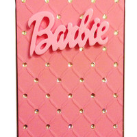 Barbie Sparkle Baby Pink  iPhone 5 Diamante Case Cover