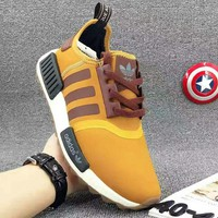 "Fashion""Adidas"" Women Fashion Trending Running Sports NMD Shoes Yellow"